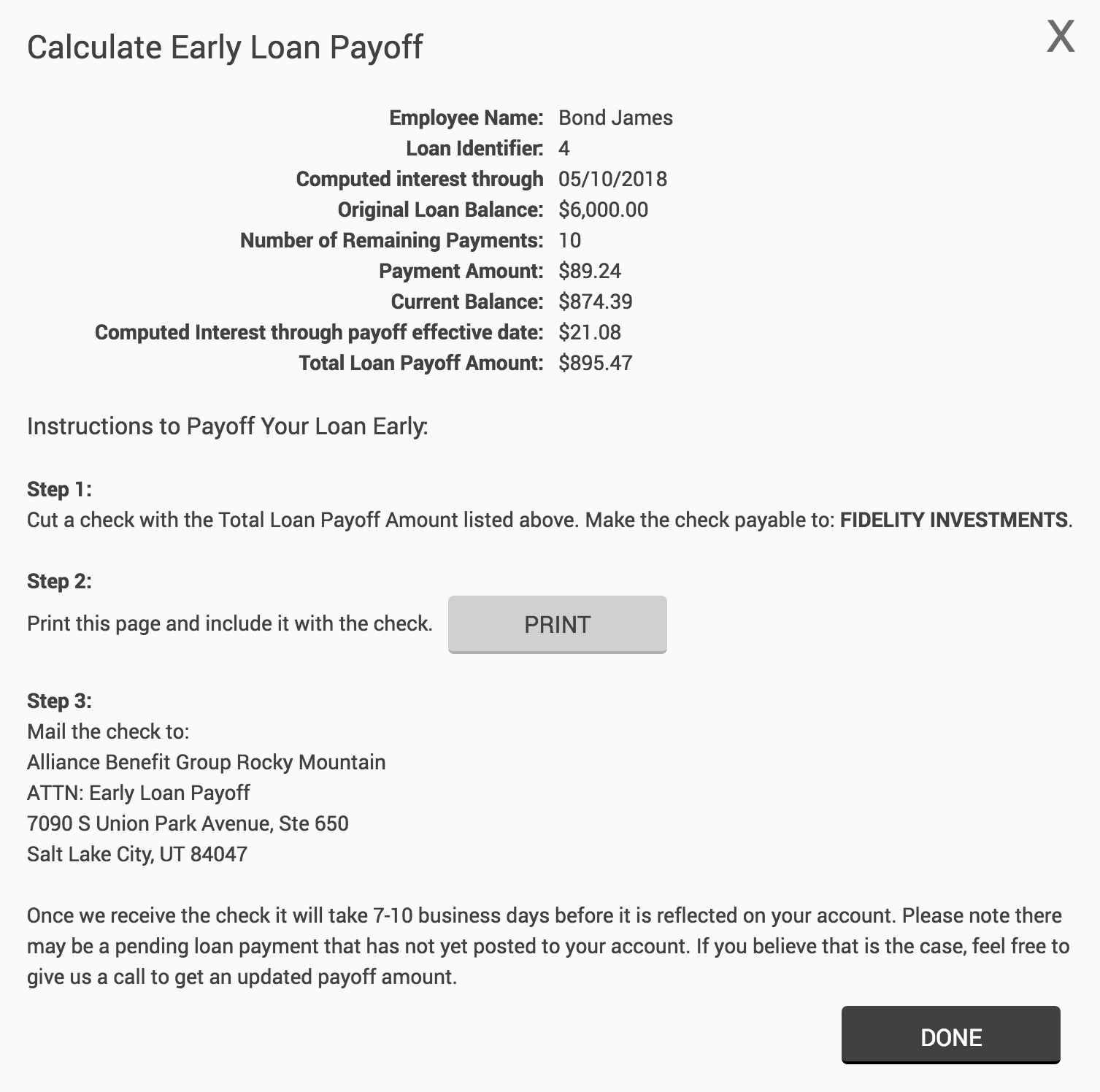 new website features early loan payoff rollover into plan